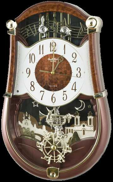 Rhythm Concerto Entertainer Clock